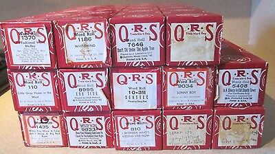 14 Lot QRS Player Piano Rolls Mixed Lot # 5