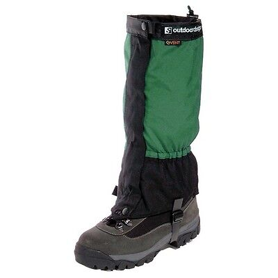 Outdoor Designs Perma eVENT Gaiter Small Green w/Front Zip/Storm Flap/Boot Strap
