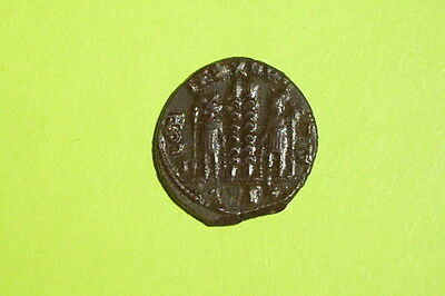 Ancient ROMAN COIN military standards CONSTANTINE II 316 AD-340 AD vf ef xf old