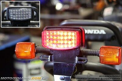 03-16 Honda Ruckus NPS50 INTEGRATED Turn Signal LED Tail Light Smoked Lens
