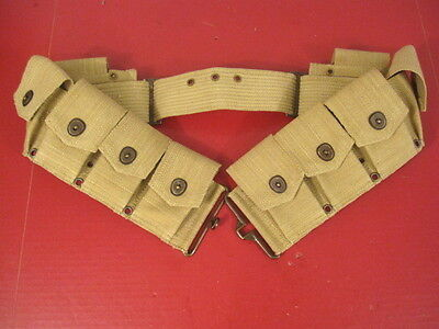 WWI US Army M1917 Cartridge Ammo Belt for M1903 Springfield Dated 1918 - Repro