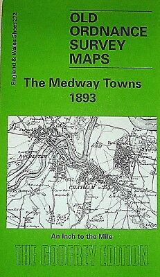 Old Ordnance Survey Maps Medway Rochester Chatham Sittingbourne & Minister 1893