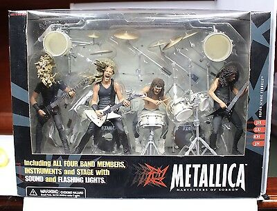 Metallica Action Figures Mcfarlane Toys New And Sealed Deluxe Set 2001