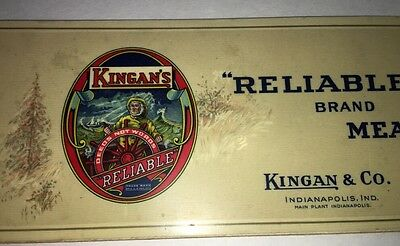 Kingan's Meats Celluloid Advertising Blotter Indianapolis Indiana Graphic Art