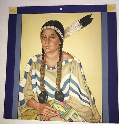 Great Northern Railroad Winold Reiss American Indian Calendar Top Morning Star