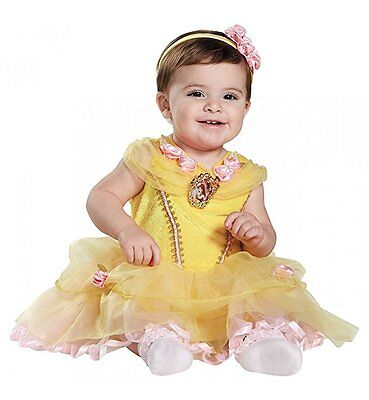 Disney Baby Girl Belle Princess Infant Costume Dress Up NWT Size 6-12 mos