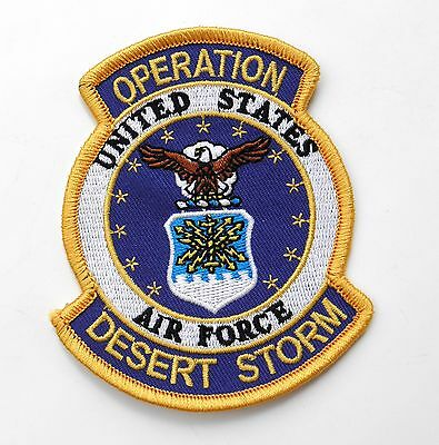 Usaf Air Force Operation Desert Storm Gulf War Embroidered Patch 3.5 X 3 Inches