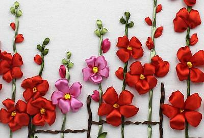 Ribbon Embroidery Kit Unknown Wildflowers Needlework Craft Kit RE3109