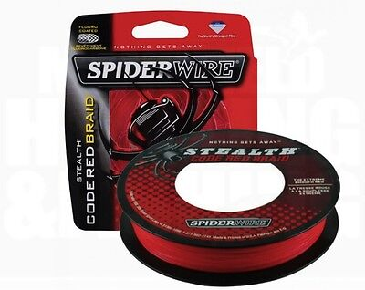Spiderwire Stealth Code Red Braid, Ehanced Strength And Bastability! 150M