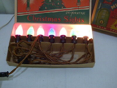 Vintage Polly Christmas Lighting Outfit Mazda Lamps Clothes Wire