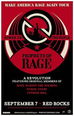Rage Against The Machine Prophets Red Rocks 2016 Concert Poster