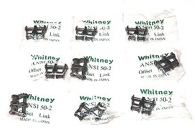 Lot Of 9 New Whitney Chain Ansi 50-2 Offset Chain Links
