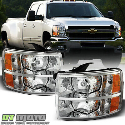 2007-2013 Chevy Silverado Replacement Headlights Headlamps 07-13 Pair Left+Right