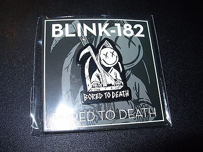 BLINK 182 BORED TO DEATH Logo Black Enamel Pin badge button merch tour lapel