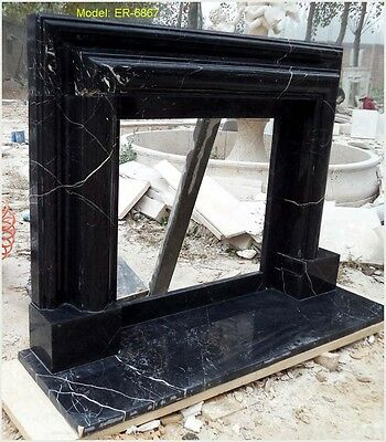 Customize Your Own Size Solid Marble Fireplace Mantel Surround@PLS ASK PRICE@