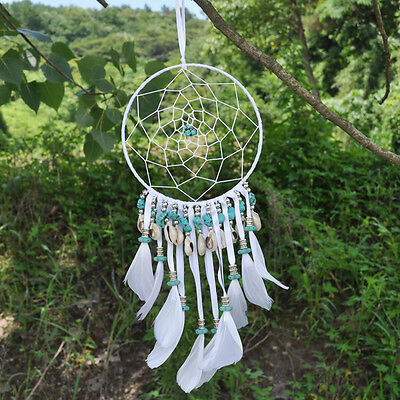 Handmade Dream Catcher With Feathers Wall Or Car Hanging Decor Ornament Gift