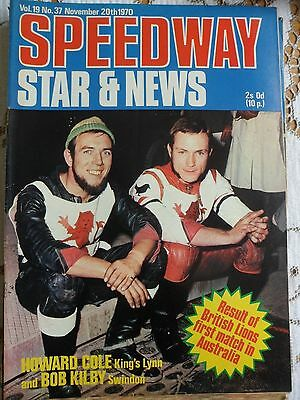 Speedway Star and News 20th November 1970