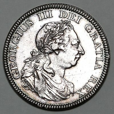 1804 King George Iii Great Britain Silver Dollar 5 Five Shilling Coin