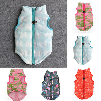 Bowknot Pet Dog Puppy Vest Jacket Clothing Warm Winter Small Dogs Clothes Coat