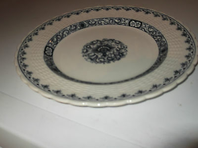 1881 Minton Dinner / Salad Plate In Blue And White Ganges Pattern