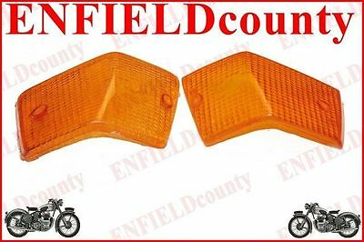 Rear Indicator Amber Orange Lens Set For Vespa Px Px80-200 Pe Lusso T5 Lml @cad