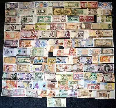 [#19350] - Collection World Banknotes - 100 Different All Unc - Postage Free!