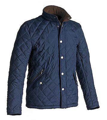 New ** Harry Hall ** Mens Small Navy Quilted Warm Jacket ** Riding Country Coat