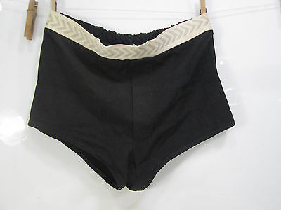 Vintage Campus Men's Black Swim Trunks