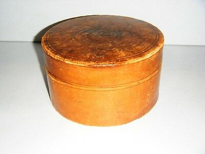Vintage Leather Covered Collar Box