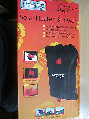 Camping Shower Portable Outdoor Solar Heated Camping PVC Bag 20 Litres RY507