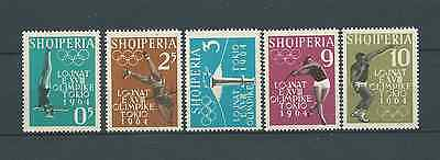 ALBANIE - 1962 YT 576 à 580 - TIMBRES NEUFS** MNH LUXE