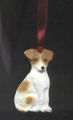 Sitting JACK RUSSELL Unbreakable Poly Christmas Ornament