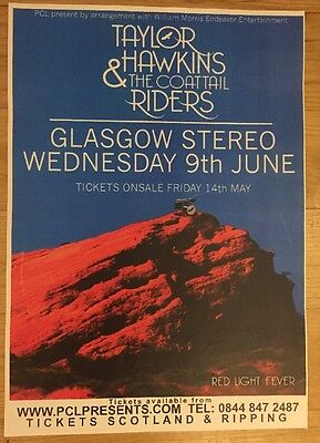 Taylor Hawkins & The Coattail Riders - Rare gig poster, Glasgow ,June 2010