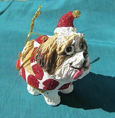 Cutie SHIH TZU Silly Dog Christmas Ornament CLEARANCE SALE