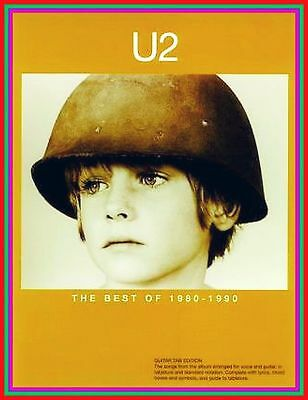 U2 with BONO GUITAR VOCAL BEST GOLD 80/90 Songbook TAB NOTEN LYRIC CHORDS FOTOS