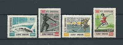 ALBANIE - 1963 YT 667 à 670 - TIMBRES NEUFS** MNH LUXE
