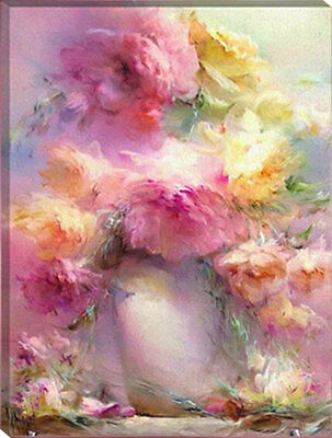 Painting by Number kit The Blooming Flowers Floral Pink Plant Spring DIY HT7065