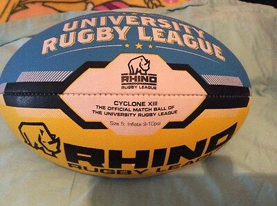 Rhino Super League University  Rugby Match  Ball - Size 5 New