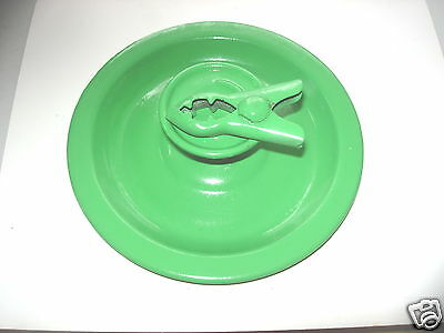 Vintage 1950S  Green Tin Patented Table Candle  Holder