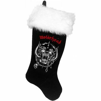 Motorhead Black Fleece Christmas Stocking With Faux Fur Trim Officially Licensed