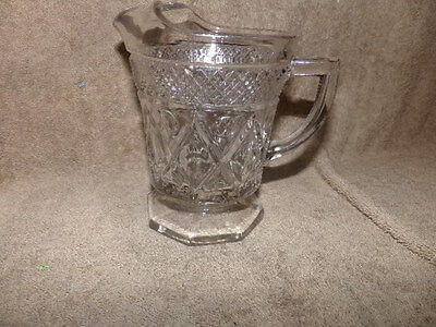 Vtg Imperial Glass USA Cape Cod Crystal Glass Milk Pitcher Made in USA