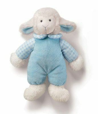Russ Rattle Pals Baby Lamb Blue Soft Toy Boys/Girls Christmas Gift, 33571B