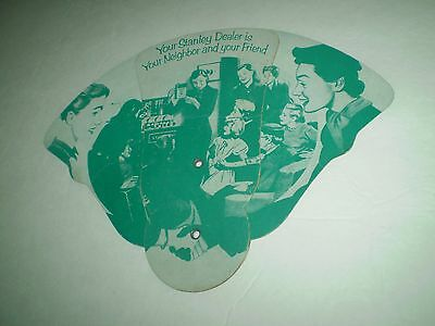 Vintage Fan Advertising Stanley Club Party Hostess Cardboard 1954 Home Dealer