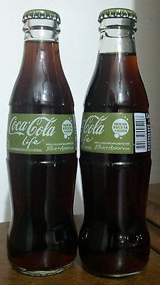 1 Volle Coca Cola Life Flasche ARGENTINA  Glas *  ** NEW Bottle Glass Full!
