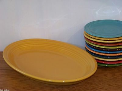 """Fiesta® MARIGOLD Post 86 Large 13-5/8"""" Oval Platter - Discontinued Color"""