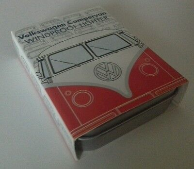 VW Official Red Licensed Campervan Windproof Cigarette Lighters-Gift Tin Case