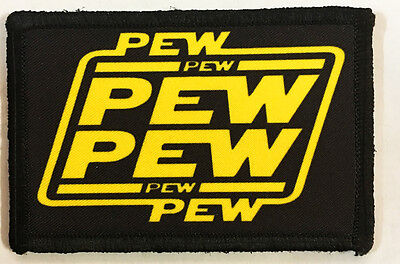 Star Wars Pew Pew Morale Patch Tactical Military Army Hook Flag Badge USA