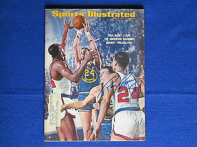 Rick Barry Signed Sports Illustrated Magazine ~ Jsa Cert N16252 ~ Autograph