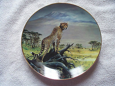 Big Cats Of World Spotted Sentinel Doug Manning Art Collector Plate