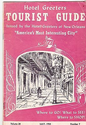 1954 Tourist Guide New Orleans Louisiana 30 pages
